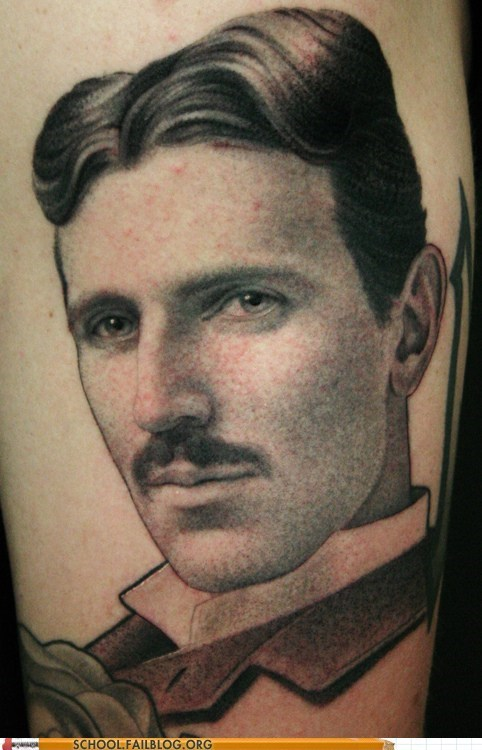 science tattoos tesla - 6515926784