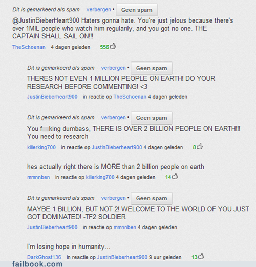 earth population justin bieber worlds-population youtube comments - 6515936512