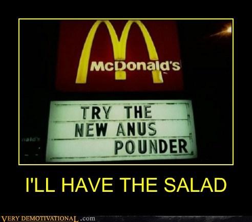 eww McDonald's salad wtf - 6516027392