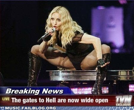 Breaking News Madonna spread eagle