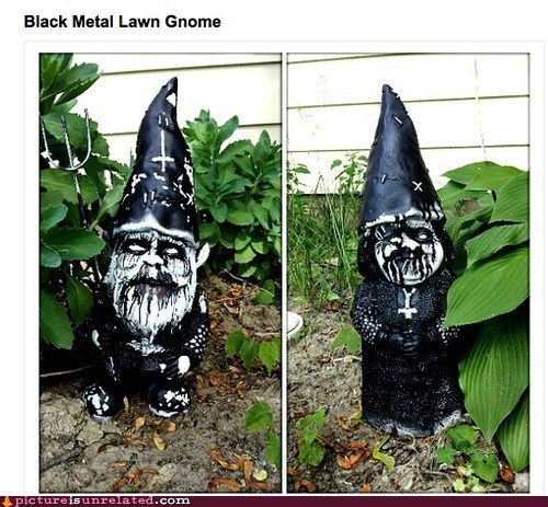 black metal lawn gnomes - 6516556544