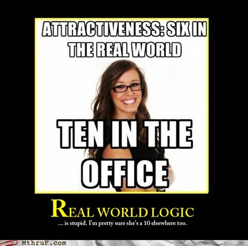 demotivational hotness hotness rating real world logic - 6516693760