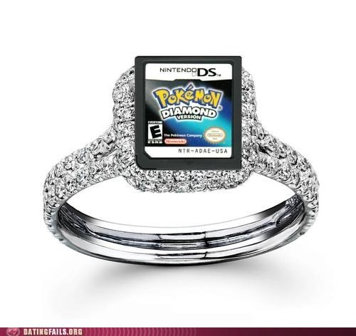 diamond,engagement ring,Pokémon,pokemon diamond