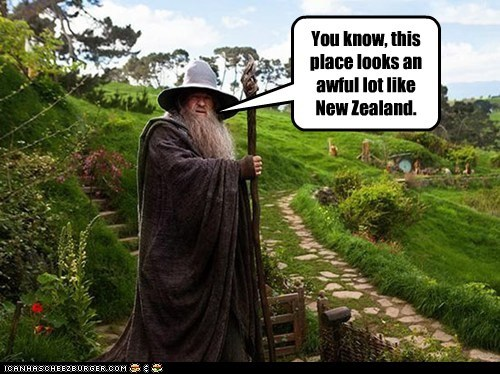 gandalf looks like Lord of the Rings middle earth new zealand