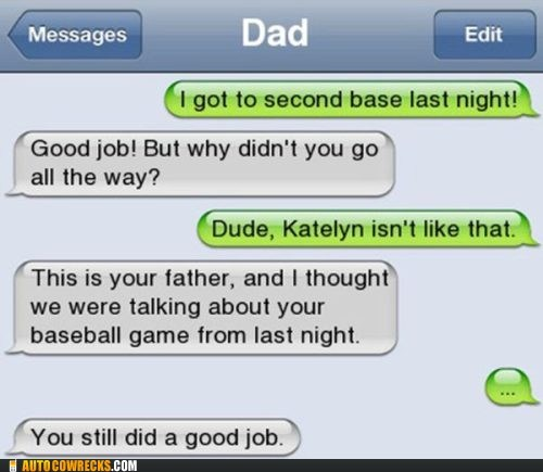 baseball Father good job second base Very proud - 6517097472