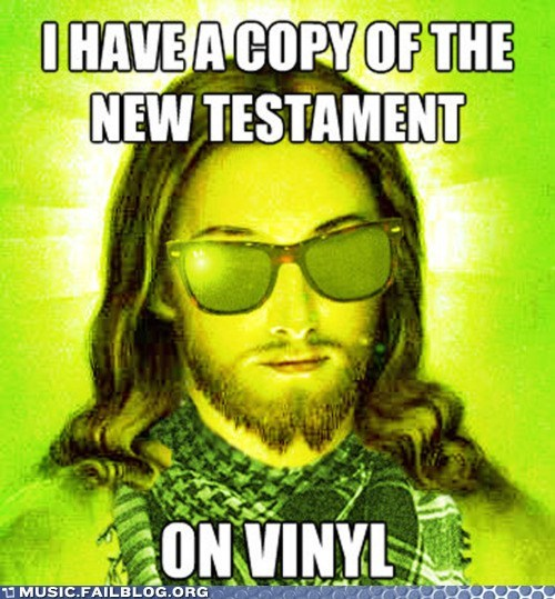 bible,faith,hipster jesus,jesus,meme,religion,vinyl