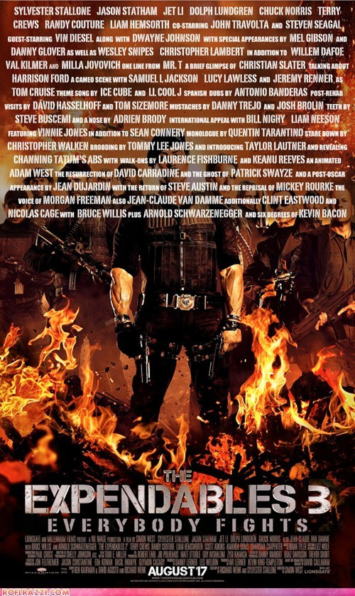 expendables funny Movie poster spoof