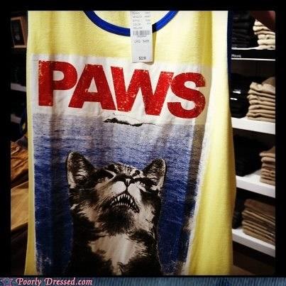 cat pun shark week shirt - 6517339904