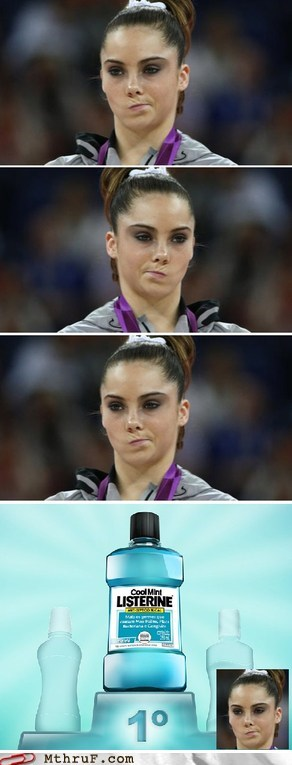 listerine mckayla is not impressed mckayla maroney mouthwash - 6517384192