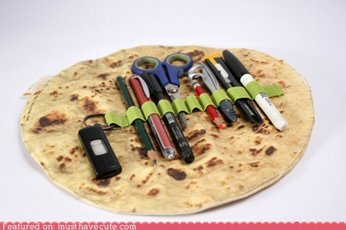 back to school bread pencil case pens pita roll school supplies
