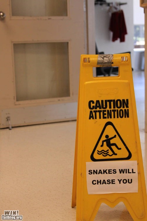 caution hacked irl sign snake warning - 6517817600