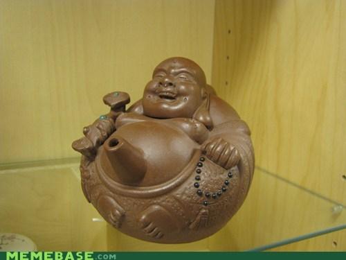 buddha i have the weirdest boner teapot wtf