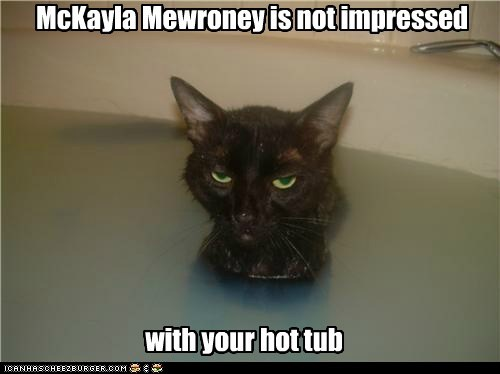 McKayla Mewroney is not impressed with your hot tub