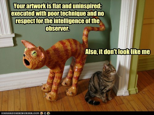 art captions Cats critique judge poor technique - 6518202880