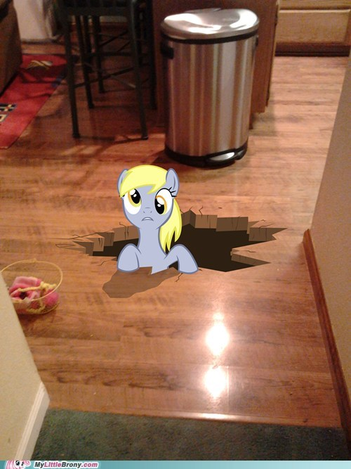derpy hooves,hole,I just don't know what we,i-just-dont-know-what-went-wrong,photoshop