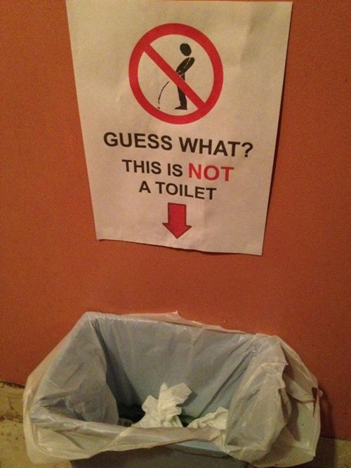 drunken urination garbage can not a toilet prove it - 6519220480
