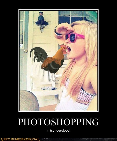 hilarious photoshop rooster wtf - 6519393024