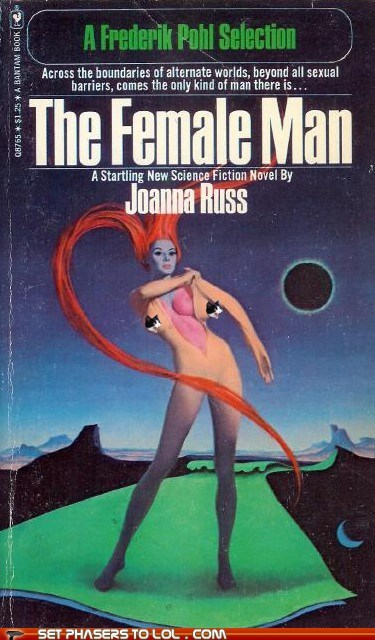 bewbs books cover art female man science fiction skin suit wtf - 6519431680