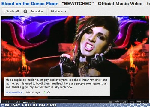 blood on the dance floor,comment,gay,youtube,youtube comment