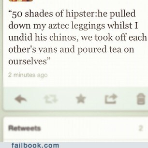 50 shades of hipster,aztec leggings,chinos,hipster,tea,tweet,twitter,vans