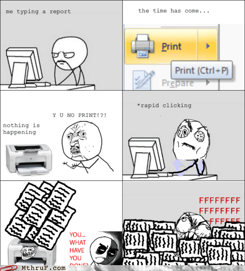 print printer rage comic y u no print - 6519503104