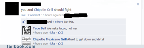 chipotle fight fighting taco bell - 6519512832