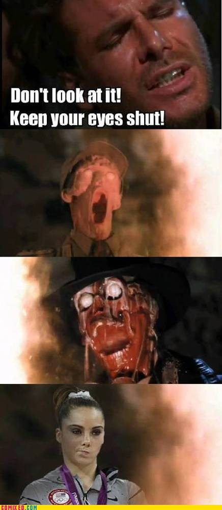 face melting meh Movie olympics raiders of the lost ark