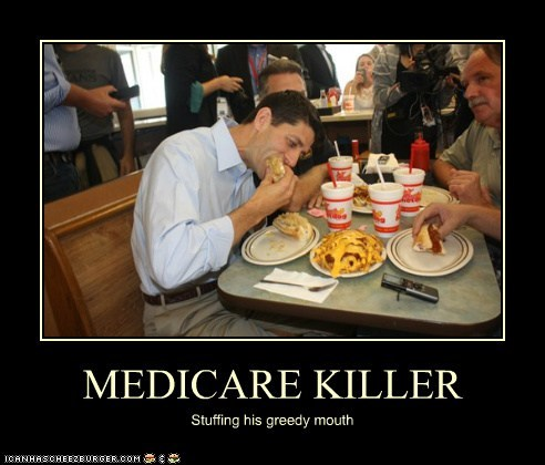 MEDICARE KILLER Stuffing his greedy mouth
