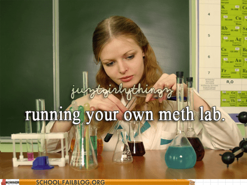girl things meth labs running your own meth lab