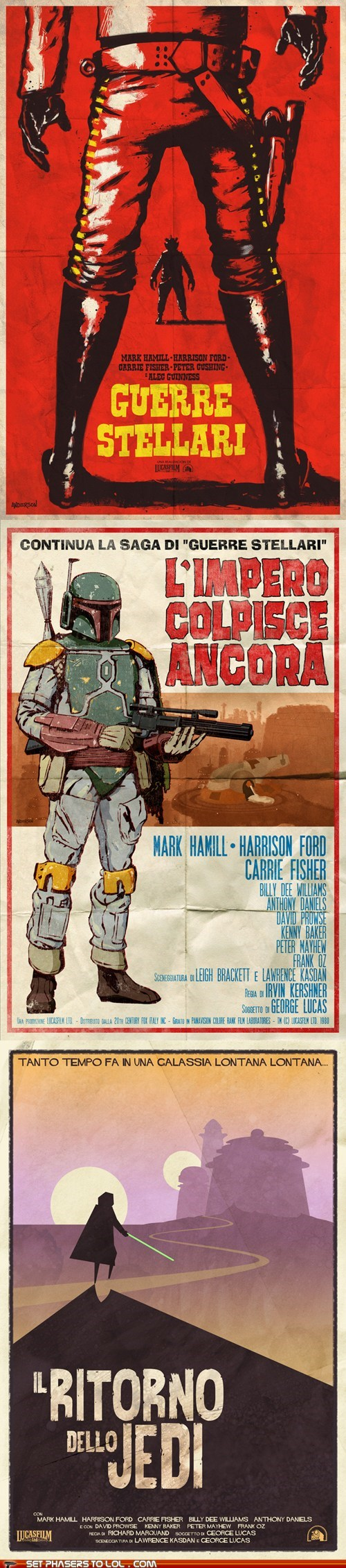 boba fett italian poster return of the jedi spaghetti western star wars The Empire Strikes Back - 6519709696