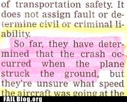airplane crash newspaper you dont say - 6519714816