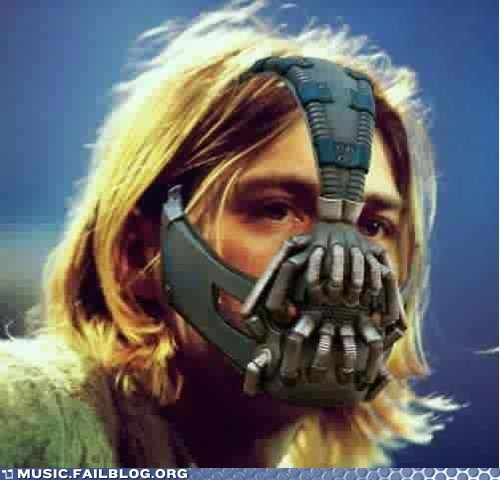 bane,kurt cobain,the dark knight rises