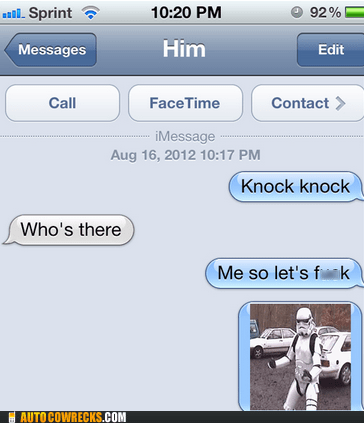 iPhones knock knock star wars stormtrooper