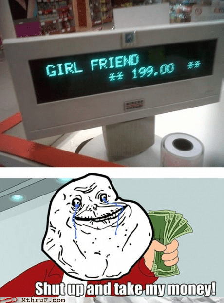 forever alone Futurama Fry girlfriend receipt - 6519957504