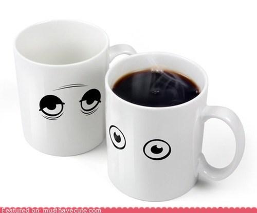coffee eyes heat activated mug
