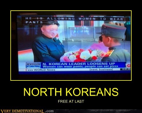 NORTH KOREANS FREE AT LAST
