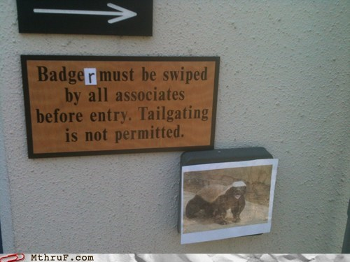 Actually, honey badger don't care if you swipe your badge or not.