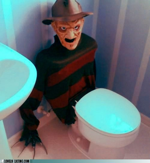 freddy krueger,horror,nightmare on elm street,toilet