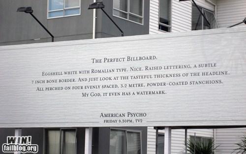 american psycho,billboard,clever,design,watermark