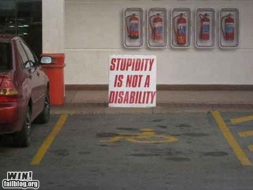 clever disability handicapped parking sign warning - 6520363008
