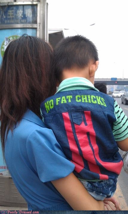 dating fashion knockoff no fat chicks shirt