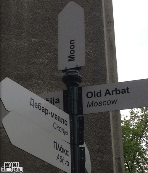 directions,europe,moon,sign