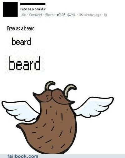 beard bird free as a beard free as a bird freebeard freebird - 6520370176
