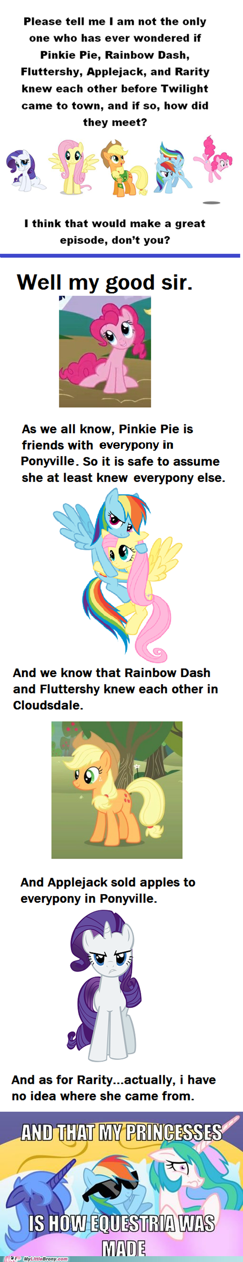 how equestria was made,how they met,mane six
