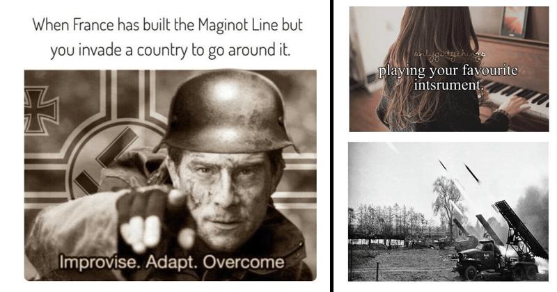 Funny history memes, military memes.