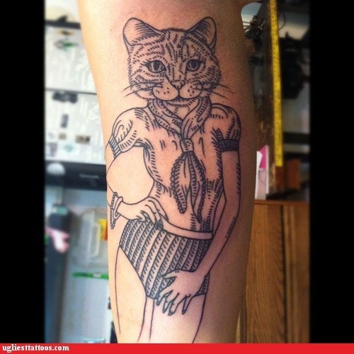 cat,leg tattoos