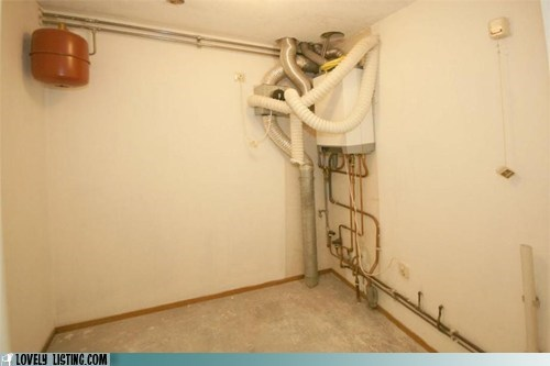basement corner pipes tangle - 6521115904