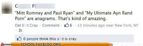 anagrams 101,Ayn Rand,class is in session,Mitt Romney,paul ryan