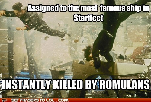 destroyed enterprise famous irony killed Star Trek unfortunate - 6521664512