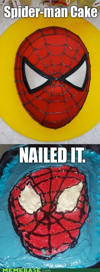 cake,Nailed It,Spider-Man